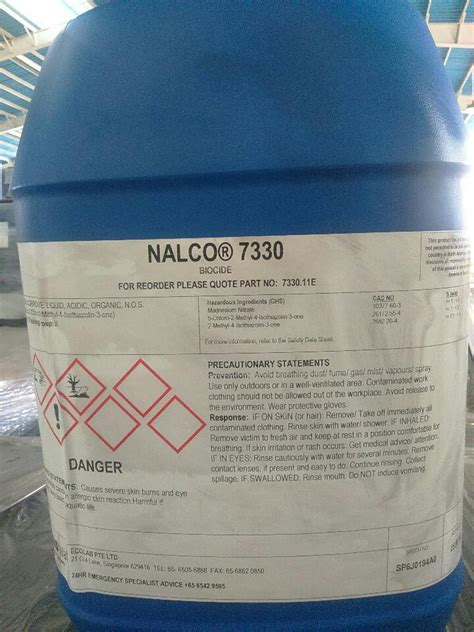 Biocide Chemical for Chiller - Nalco 7330 - Vu Hoang