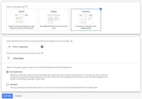 Google combos Shopping & dynamic remarketing in new goal