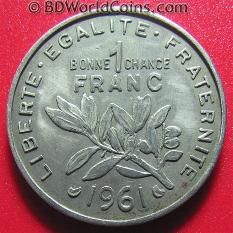 FRANCE FRENCH 1961 PREFONTAINES WINE 1 FRANC TOKEN 25