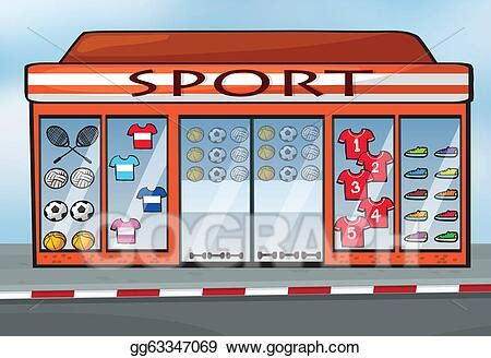Vector Illustration - A sports store