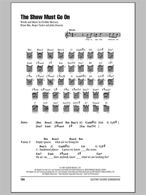 The Show Must Go On | Sheet Music Direct