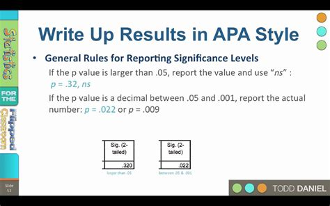 8-10 APA Style Reporting Statistical Results - YouTube
