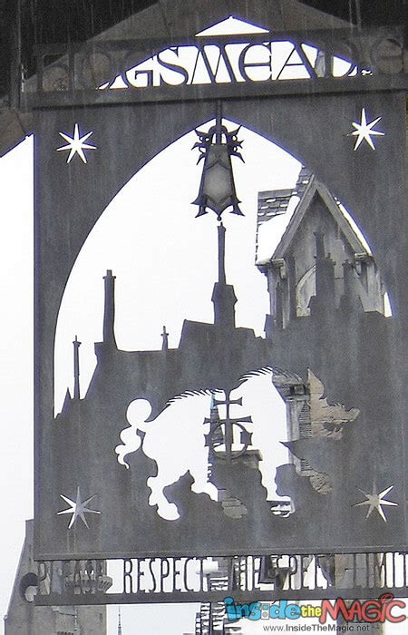 A detailed view into Hogsmeade Village at Universal's
