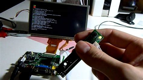 """raspberry pi resistive touchscreen with 7"""" tft over hdmi"""